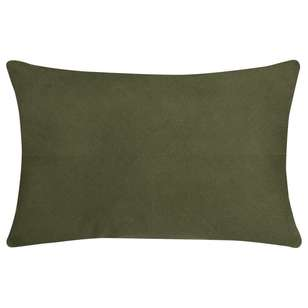 Bouclair Green Shelter Chainstitch Cushion