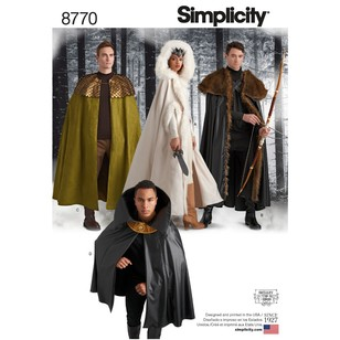 Simplicity Pattern 8770 Unisex Costume Capes