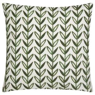 Bouclair Green Shelter Haja Ember Leaf Cushion