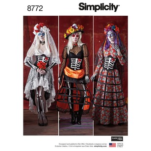 Simplicity Pattern 8772 Misses' Costumes