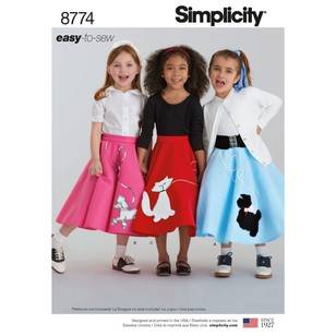 Simplicity Pattern 8774 Children's And Girls' Costumes