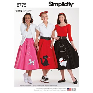 Simplicity Pattern 8775 Misses' Costumes