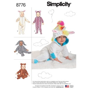 Simplicity Pattern 8776 Babies' Costumes