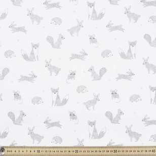 Cute Critters Printed 135 cm Muslin Fabric