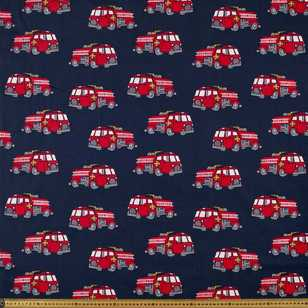 Lights & Sirens Printed 112 cm Poplin Fabric