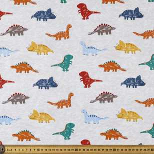 Dino Sketch Printed 112 cm Poplin Fabric