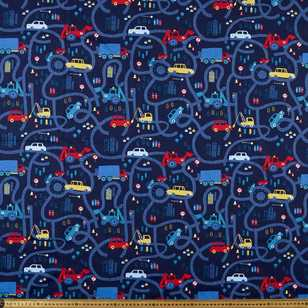 Loop the Loop Printed 112 cm Poplin Fabric