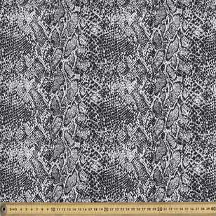 Snake Printed 127 cm Cotton Sateen Fabric