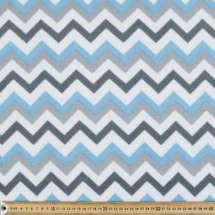 Chevron Printed Micro Nursery Fleece Fabric