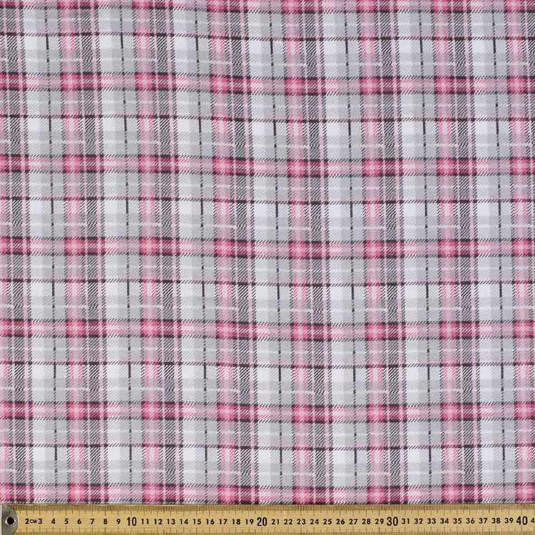 Checks Printed Flannelette Fabric