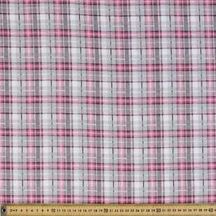 Checks Printed Flannelette Fabric