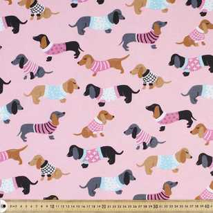 Dachshunds Printed Flannelette Fabric