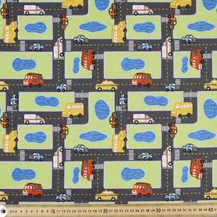 City Streets Printed Flannelette Fabric