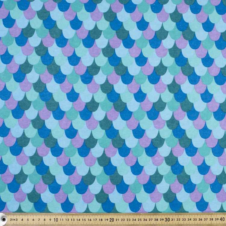Scales Printed Flannelette Fabric