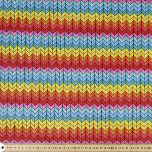Chevron Printed Flannelette Fabric