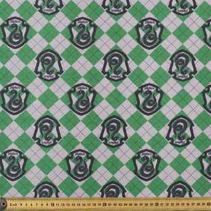 Harry Potter Slytherin Crest Flannelette Fabric