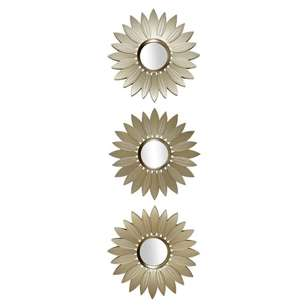 Living Space Sunflower Mirror - Set of 3