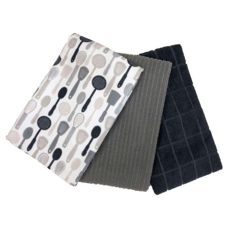 WAM Utensils Set of 3 Tea Towel