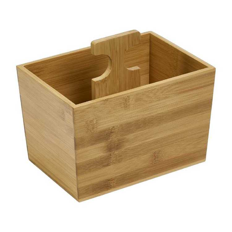 Living Space Bamboo Box With Handle Natural
