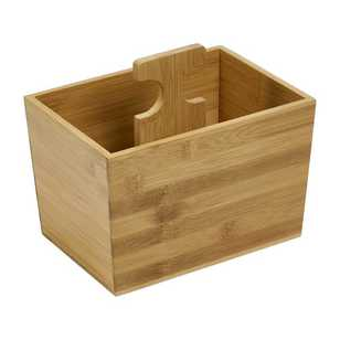 Living Space Bamboo Box With Handle