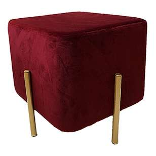 Living Space Bess Velvet Footstool