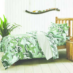 Junior Depot Dinosaur Quilt Cover Set