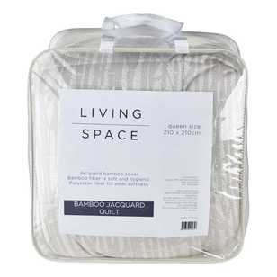 Living Space Bamboo Jacquard Quilt