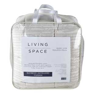 Living Space Bamboo Jacquard Topper