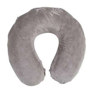 Ever Rest Memory Foam Grey Travel Neck Pillow