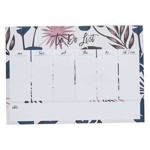 Francheville Exotic Greenhouse Pink & Leaves Weekly Planner