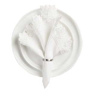 Koo Home Victoria Lace Pack of 4 Napkin
