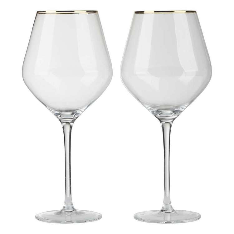 Culinary Co Pack of 2 Red Wine Glass Clear 540 mL