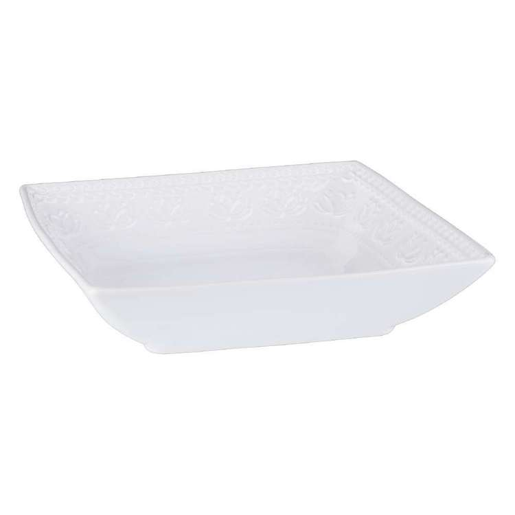 Culinary Co Embossed Square Bowl