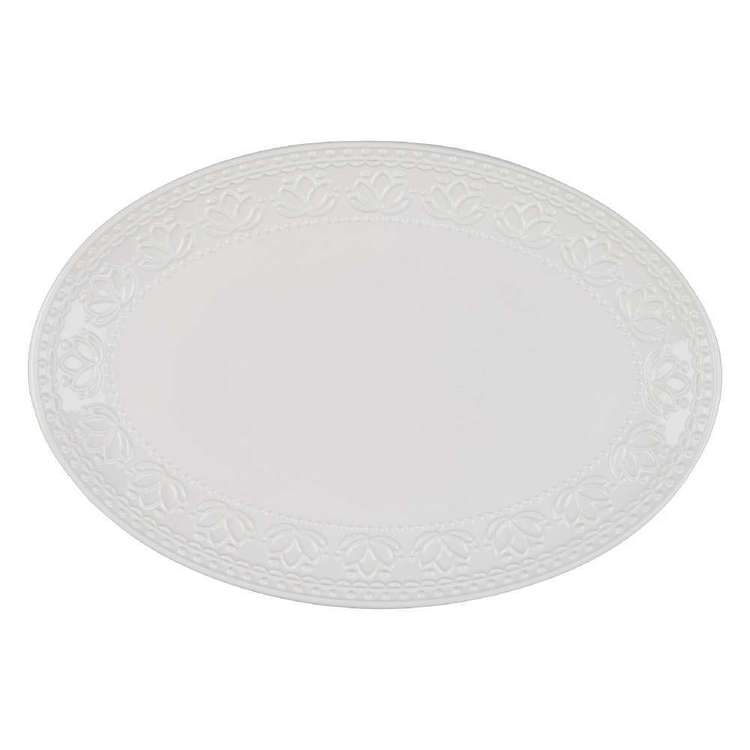 Culinary Co Embossed Oval Platter
