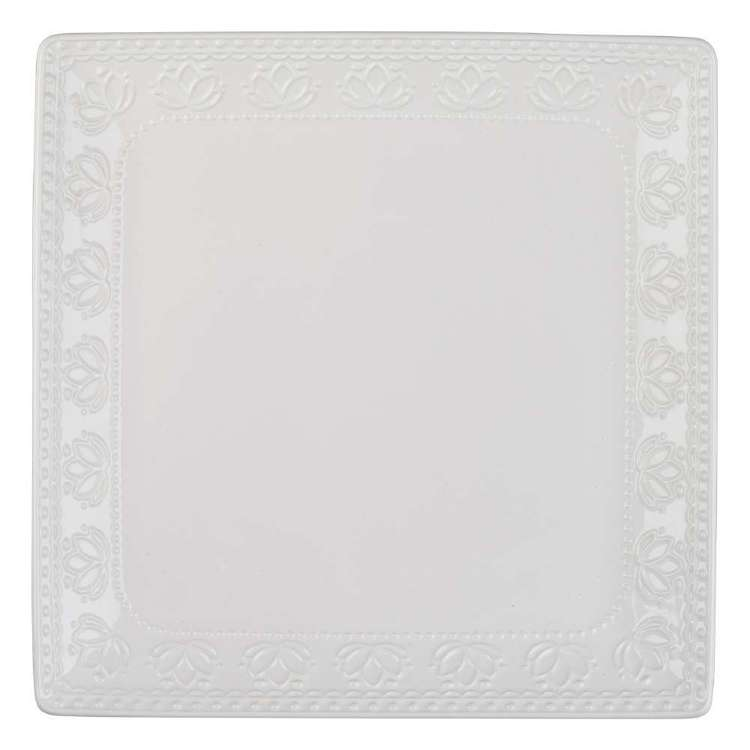 Culinary Co Embossed Square Platter
