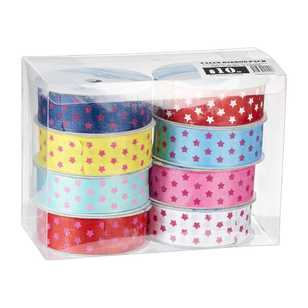 Star Printed Ribbon 8 Pack