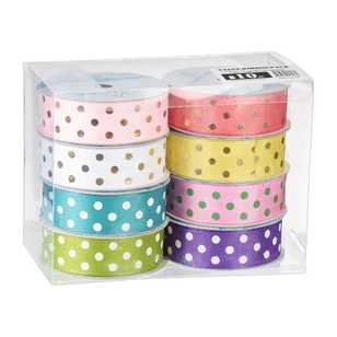 Foil Spot Printed Ribbon 8 Pack