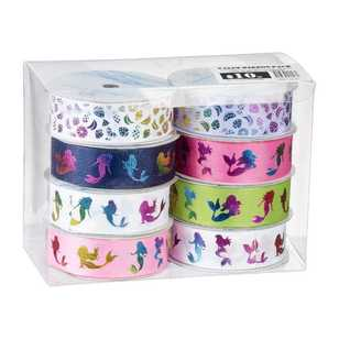 Assorted Printed Ribbon 8 Pack