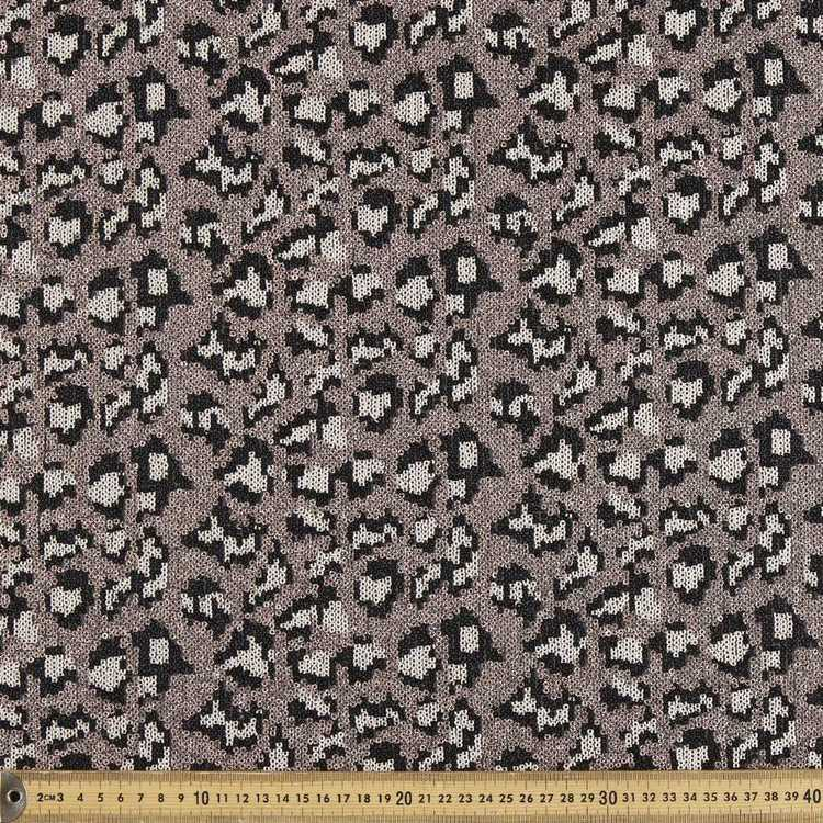 Leopard Printed Sequins Fabric