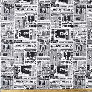 Harry Potter Allover Newspaper Cotton Fabric