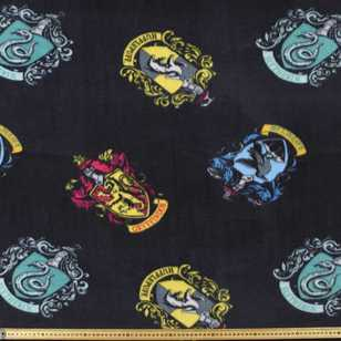 Harry Potter Hogwarts Houses Fleece Fabric