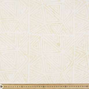 Indian Batik Naturals Triangles Fabric