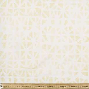 Indian Batik Naturals Grid Fabric