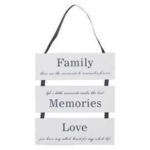 Living Space Family-Love-Memories Plaque