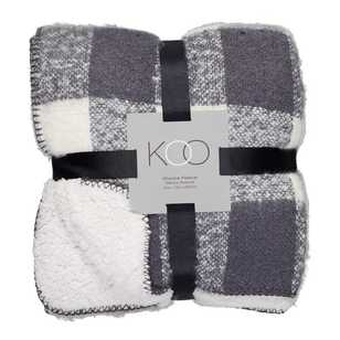 KOO Sherpa Fleece Blocks Blanket