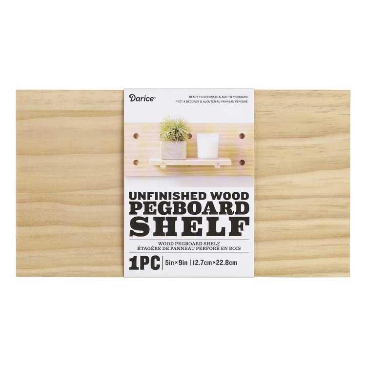 Wood Pegboard Shelf