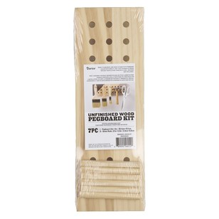 Wood Pegboard 7 Pc Kit