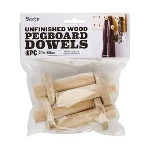 Wood Pegboard Dowels 4 Pack