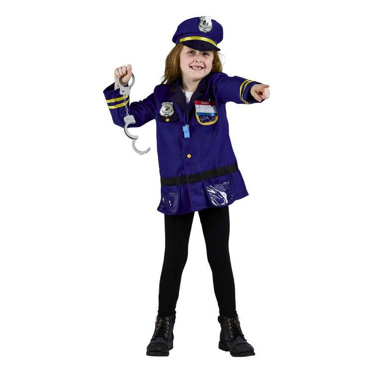 Spartys Police Kids Costume Multicoloured 6 - 8 Years