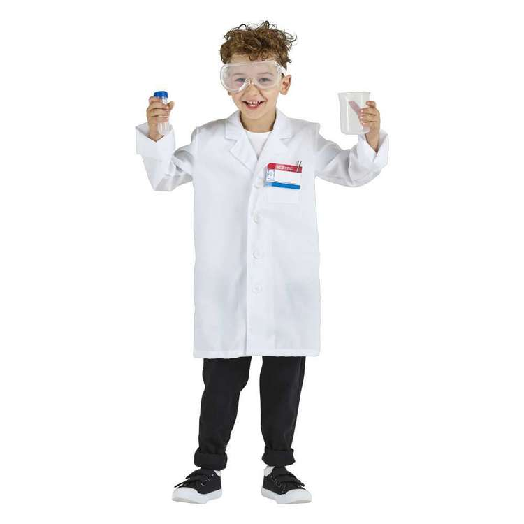 Spartys Scientist Kids Costume Multicoloured 6 - 8 Years